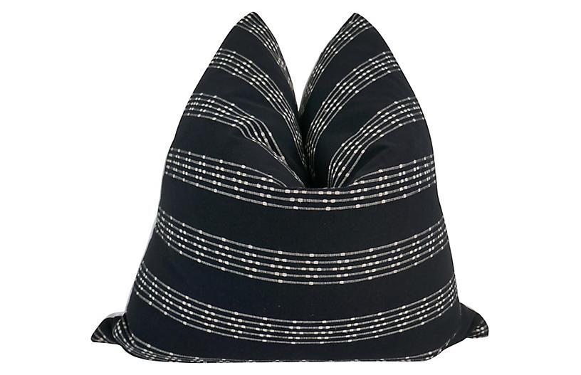 Tiburon 24x24 Pillow, Black/White