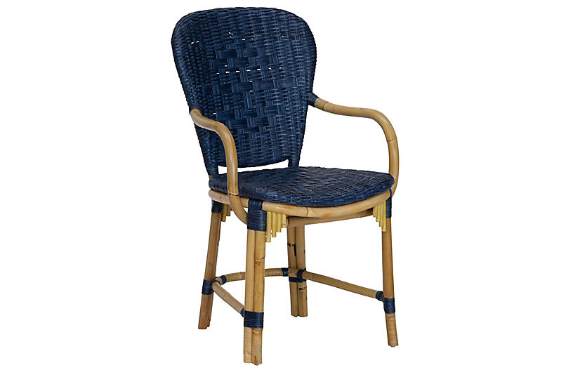 Fota Rattan Armchair, Blue