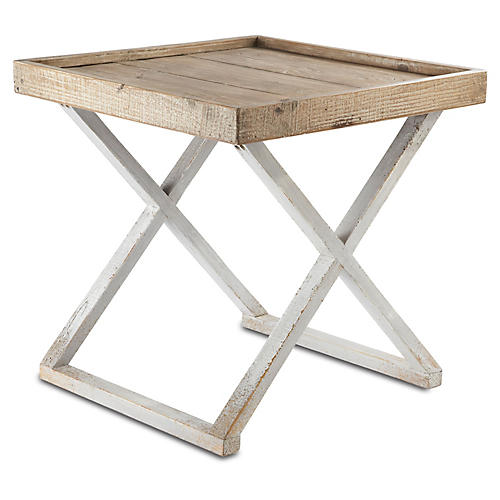 Sutton Side Table, Pearl Gray