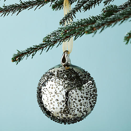Melting Ice Ball Ornament, Aged Gold