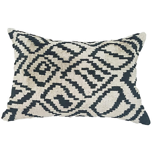 Ilana 16x24 Lumbar Pillow, Black/Cream