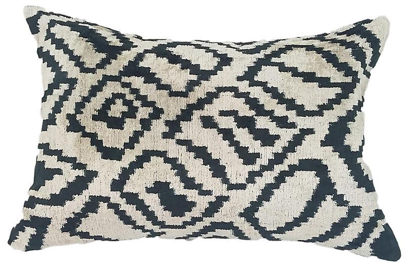 Ilana 16x24 Lumbar Pillow, Black/Cream
