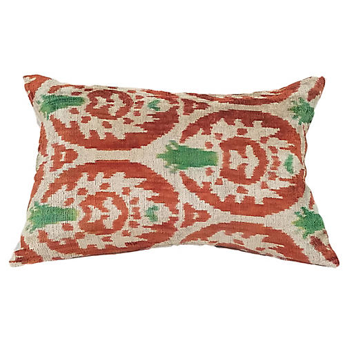 Jily 16x24 Lumbar Pillow, Orange/Cream
