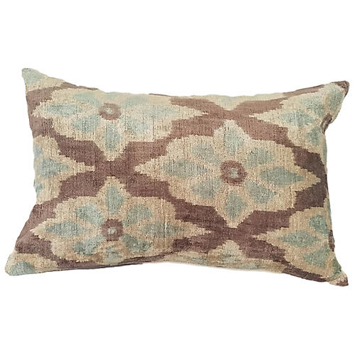Sanya 16x24 Lumbar Pillow, Chocolate/Cream