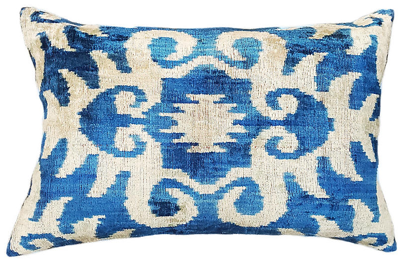Haley 16x24 Lumbar Pillow, Blue