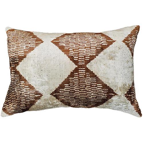 Elle 16x24 Lumbar Pillow, Brown