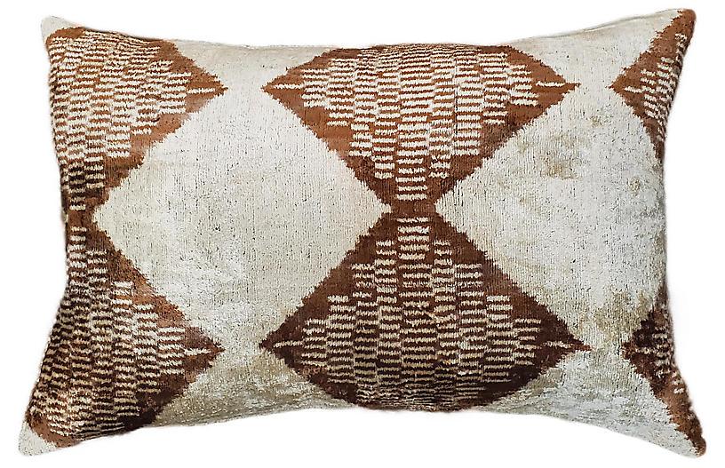 Elle Lumbar Pillow, Brown