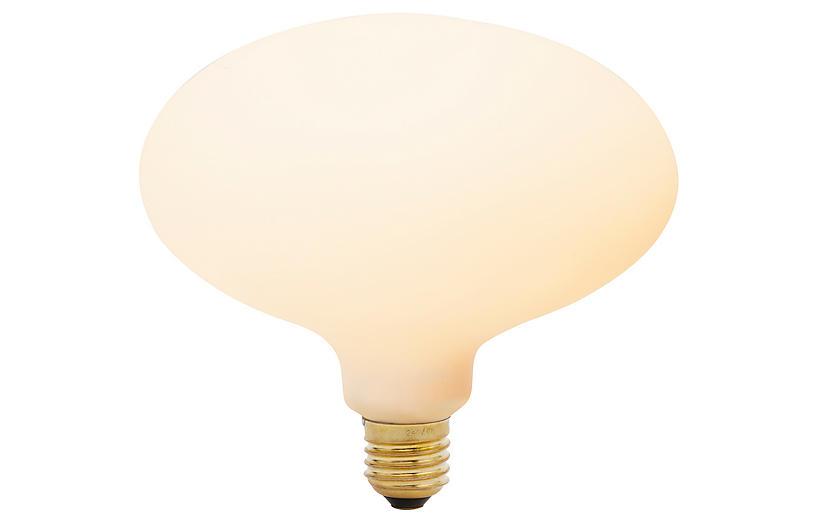 6W Oval Light Bulb, Porcelain