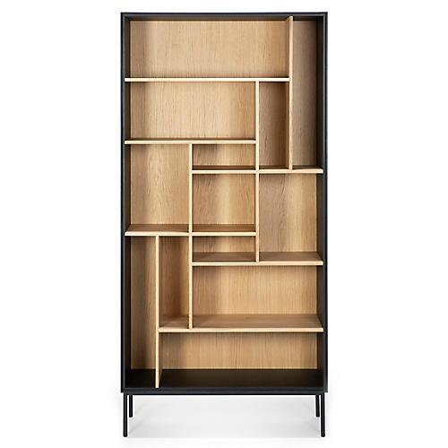 Blackbird Bookcase, Black/Oak