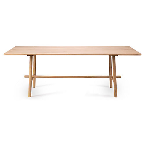 Profile Dining Table, Oak