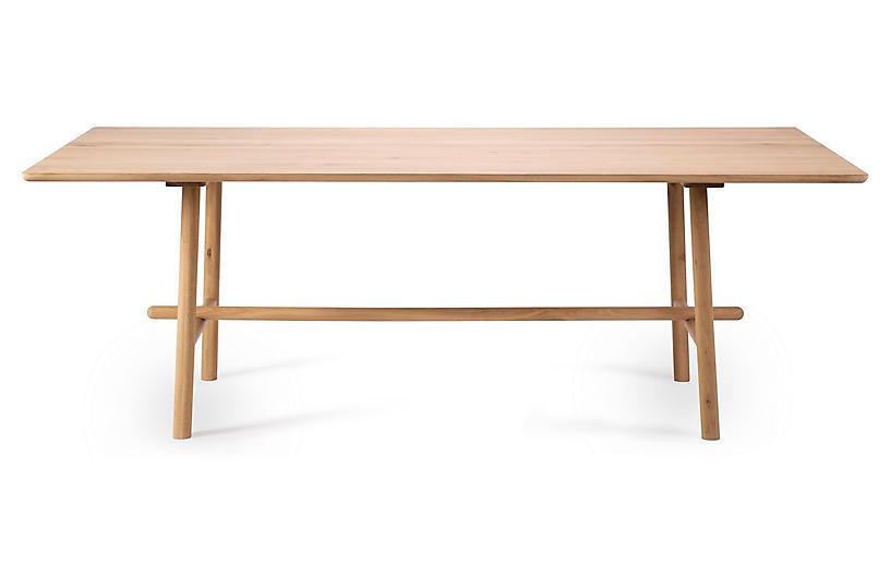 Profile Dining Table, Oak