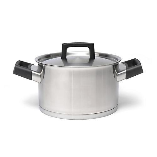 Ron Covered Casserole Dish, Silver/Black