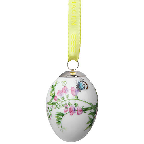Blue Butterfly Easter Ornament, White/Multi