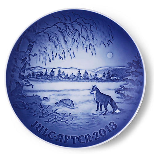 """7"""" Jule-After-2018 Decorative Plate, Blue/White"""