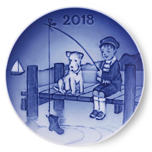 "5"" Children's Day 2018 Decorative Plate, Blue"