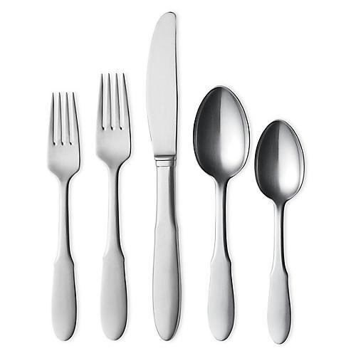 5-Pc Mitra Flatware Set, Silver