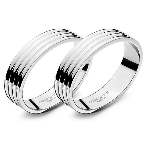 S/2 Bernadotte Napkin Rings, Silver