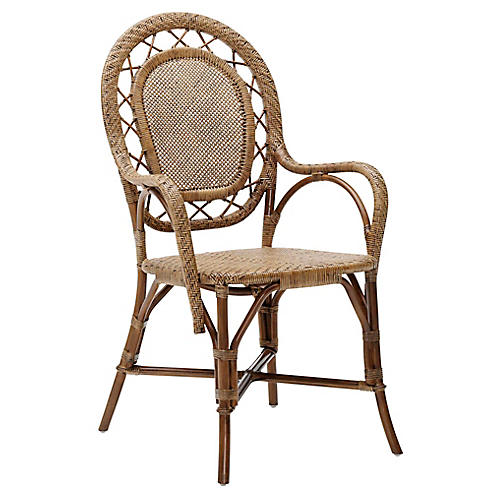 Romantica Rattan Chair, Antique