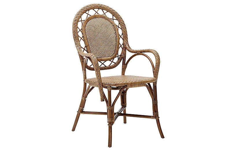 Romantica Rattan Chair, Antique
