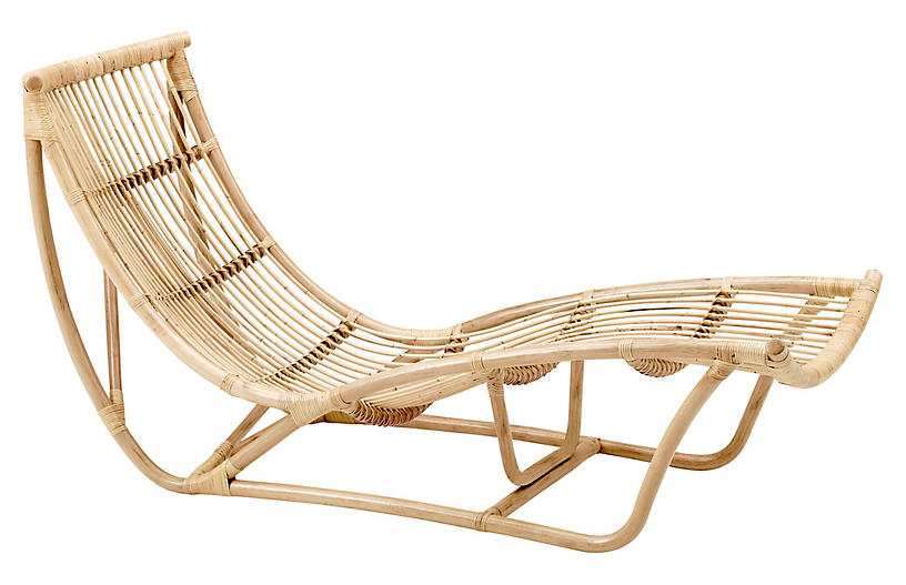 Michelangelo Chaise Lounge, Natural