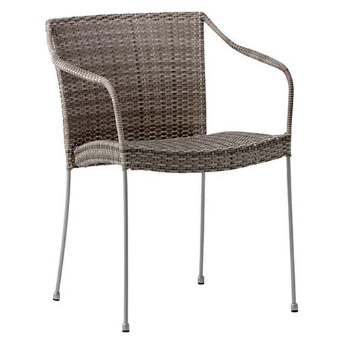 Pluto Outdoor Chair, Silver