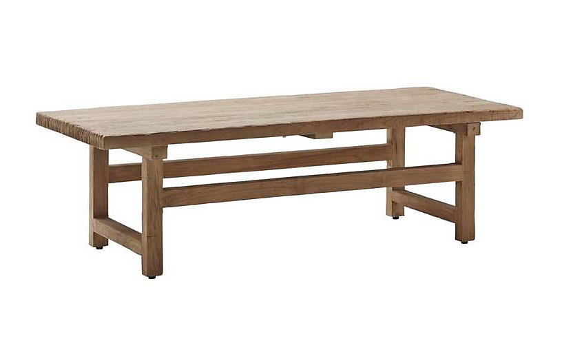 Alfred Teak Coffee Table, Natural