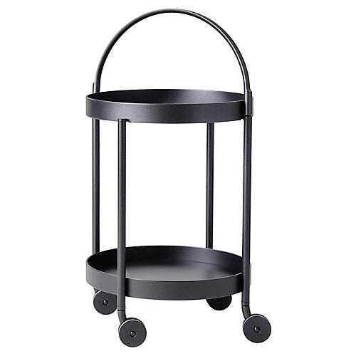 Trolley Bar Cart, Lava Gray