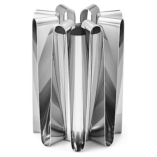 Frequency Vase, Silver