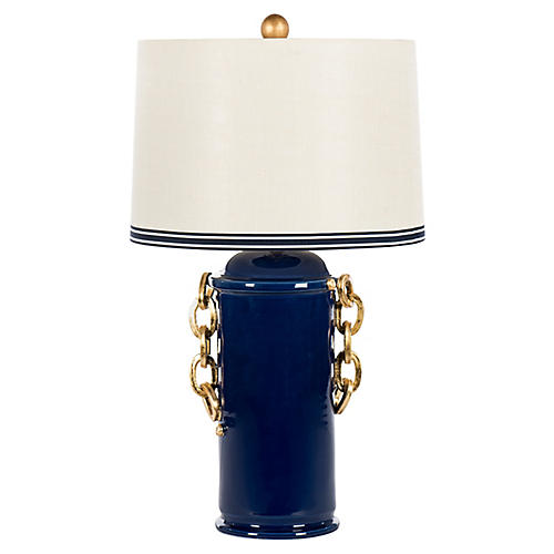 Chain Table Lamp, Blue