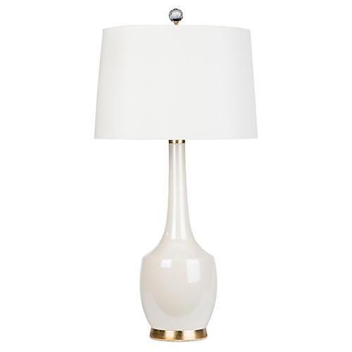 Exclusive Harlow Lamp, Opalescent Cream