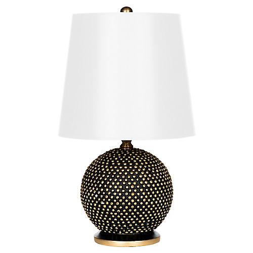 Mini Ball Table Lamp, Black/White