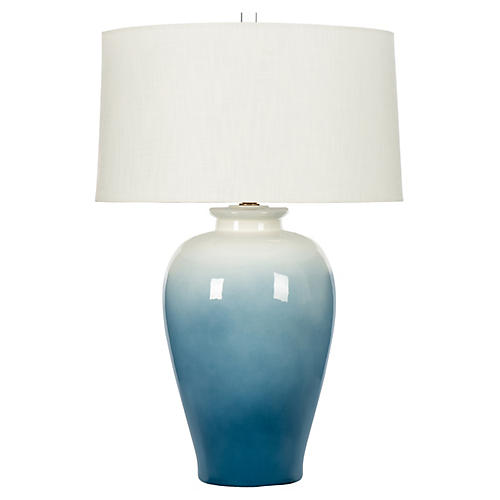 Seacliff Table Lamp, Blue