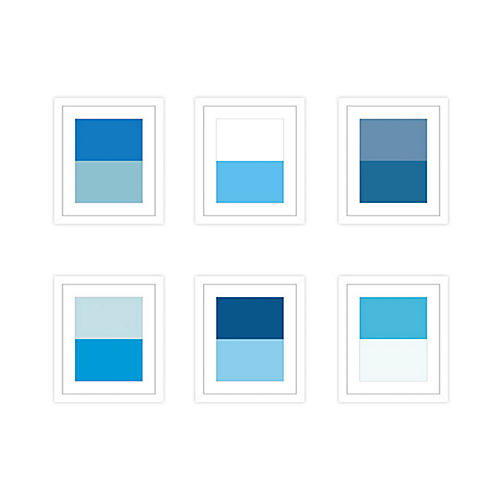 Pencil & Paper Co., Shades of Blue, Set of 6