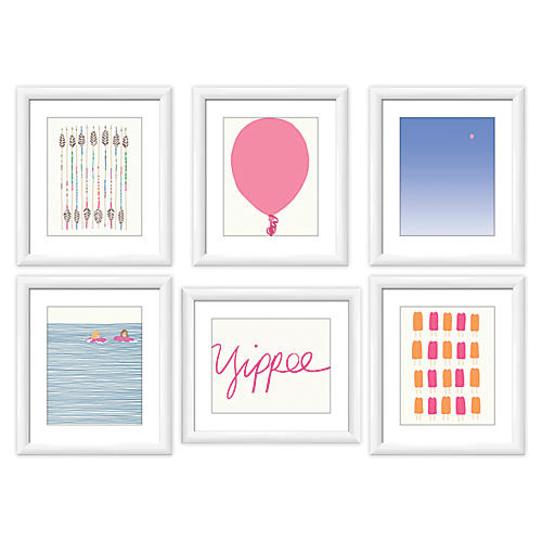 Jorey Hurley, Pink Gallery Wall