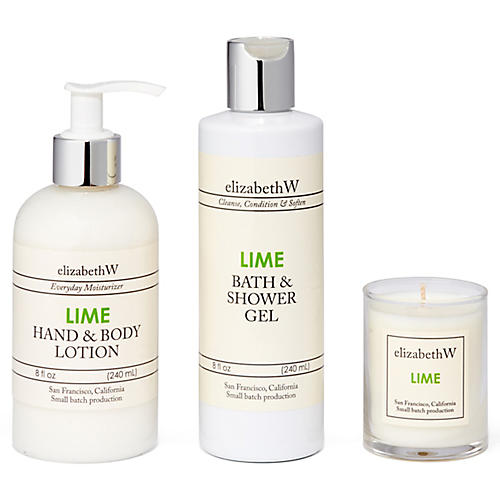 Lime Bath Set, Green
