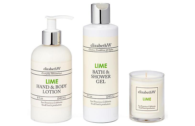 Lime Bath Set, Green