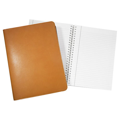 Writer's Refillable Notebook, British Tan