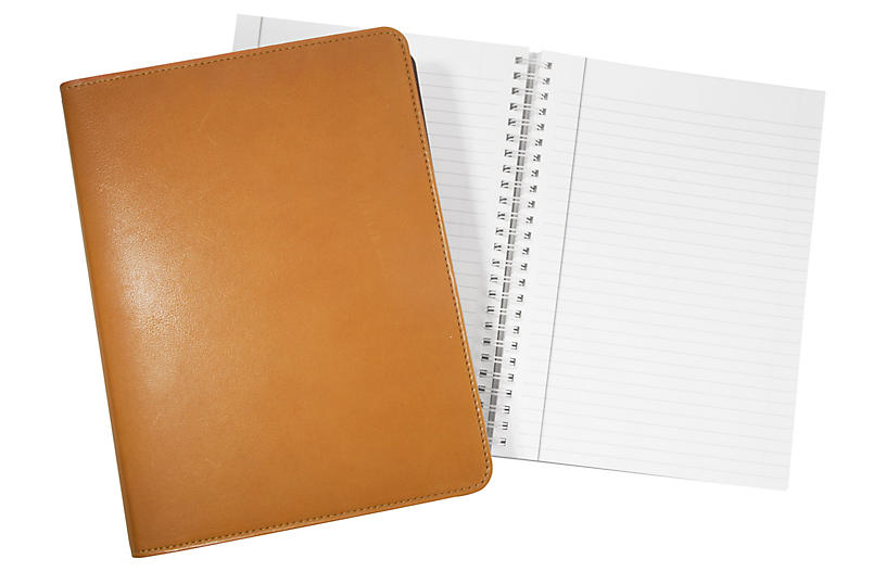 Writer's Refillable Notebook, British Tan