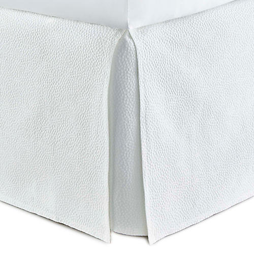 Montauk Bed Skirt, White