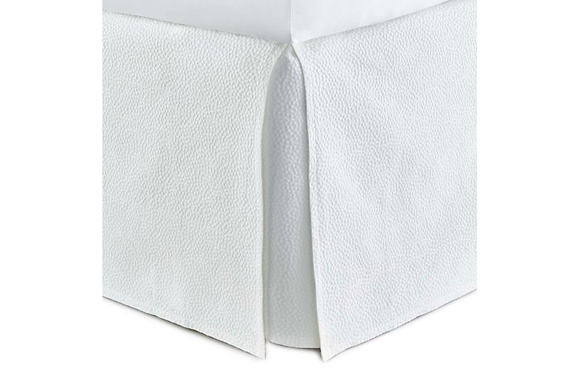 Montauk Bed Skirt, White
