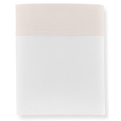 Mandalay Cuff Flat Sheet, Blush