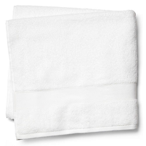 Diamond Bath Sheet, White