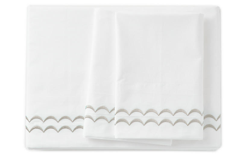 Rosemary Sheet Set, Log Cabin