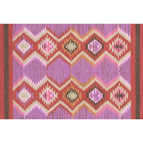 Rhapsody Handwoven Rug, Purple/Pink