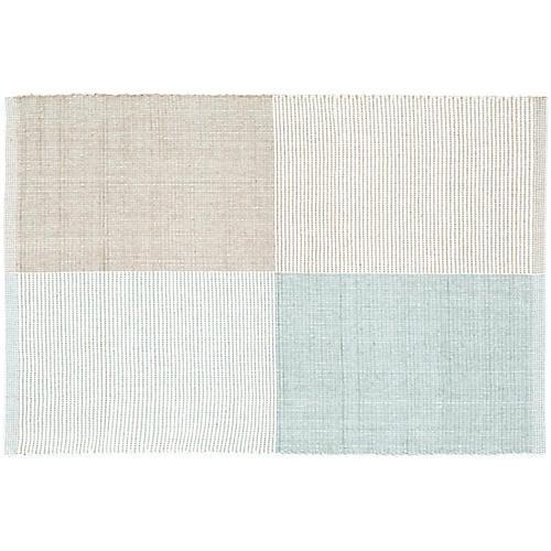 Bo Handwoven Rug, Blue