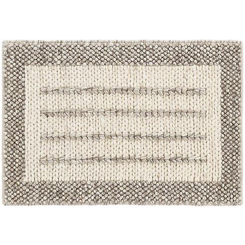 Sorrel Handwoven Rug, Natural/Pebble