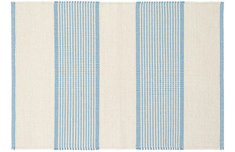 La Mirada Handwoven Rug, Asiatic Blue