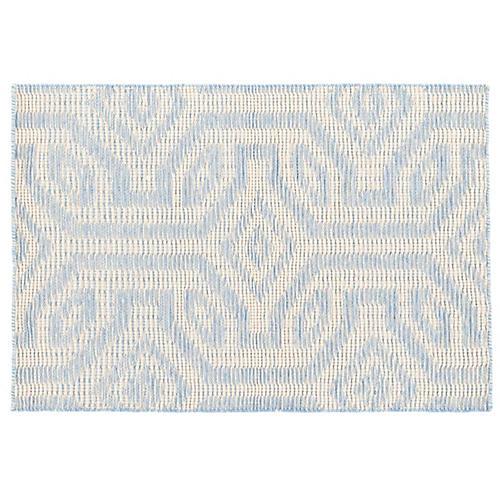Taj Handwoven Rug, Sky Blue