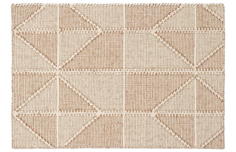 Ojai Handwoven Rug, Wheat