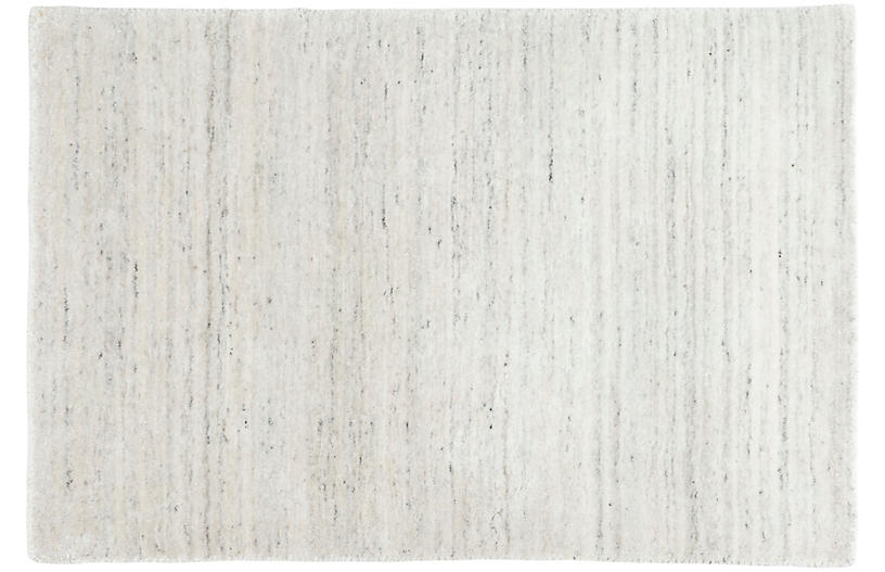 Nordic Hand-Knotted Rug, White